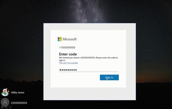 Вместо пароля при входе в систему можно вводить код, автоматически присылаемый на мобильный телефон