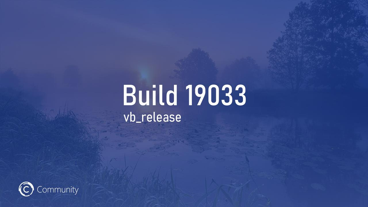 Анонс Windows 10 Insider Preview Build 19033 (Fast и Slow)