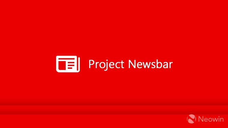 Приложение Project Newsbar обнаружено в Microsoft Store
