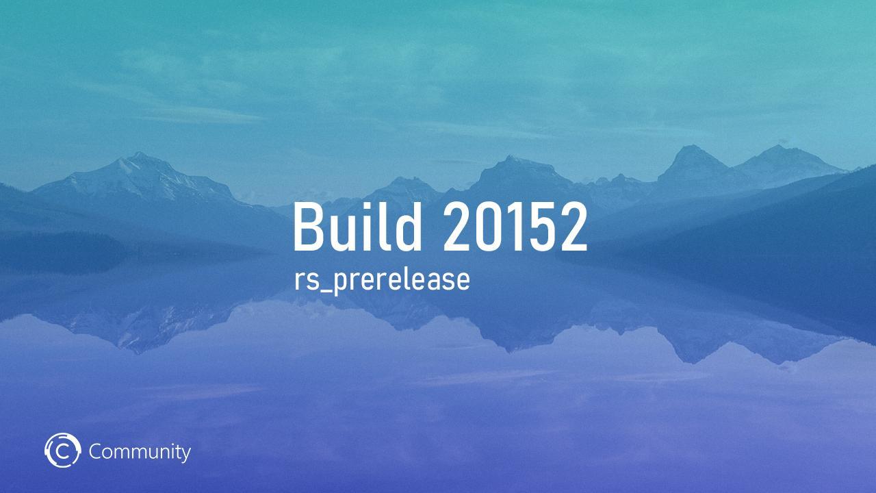 Анонс Windows 10 Insider Preview Build 20152 (канал Dev)